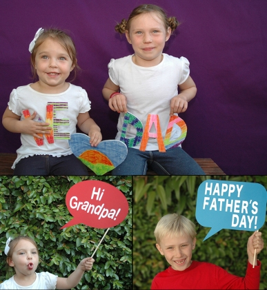 fathers day sign composite