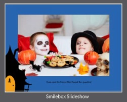 Smilebox Slideshow with caption